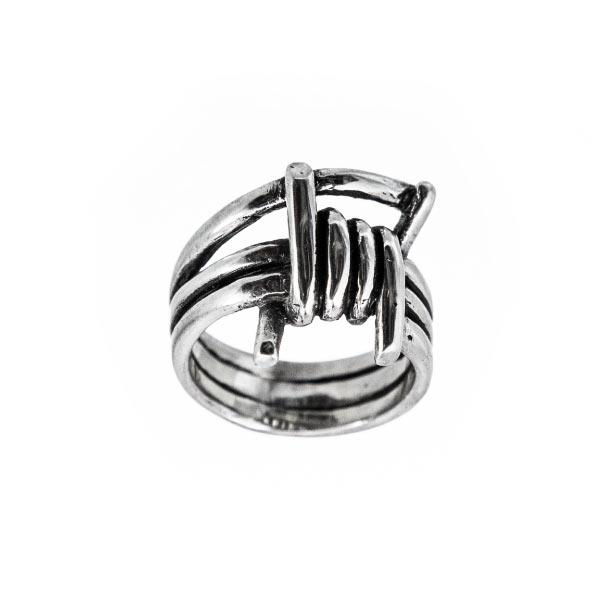 Alambre anillo de plata