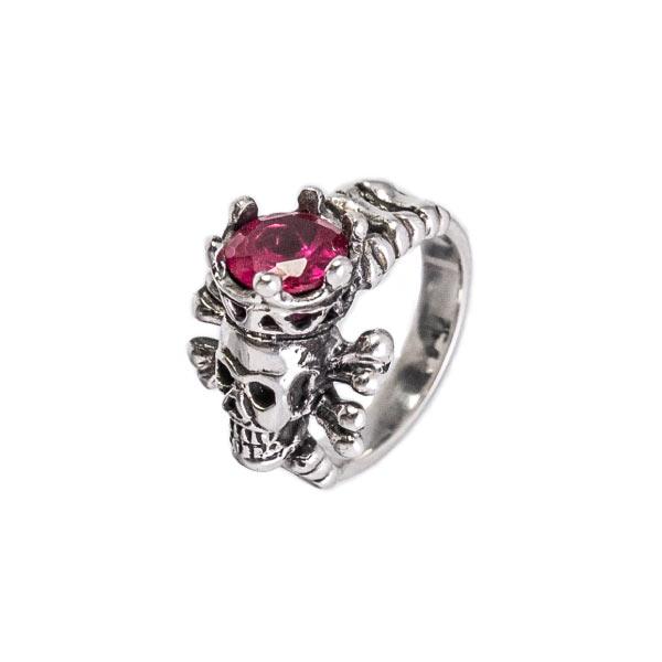calaveras de corona anillo en plata