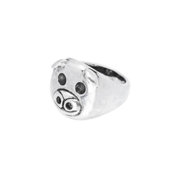 cerdito anillo de plata