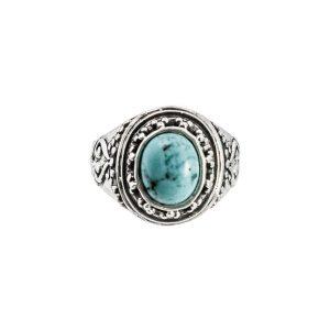 Gitano anillo de plata con piedra