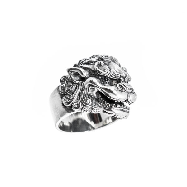 león fú anillo de plata