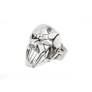 Máscara evil anillo de plata