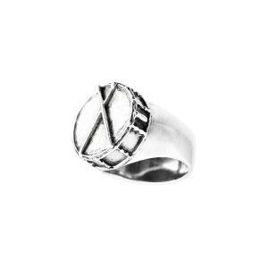 redoblante anillo de plata