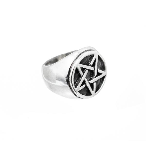 sello pentagrama anillo plata