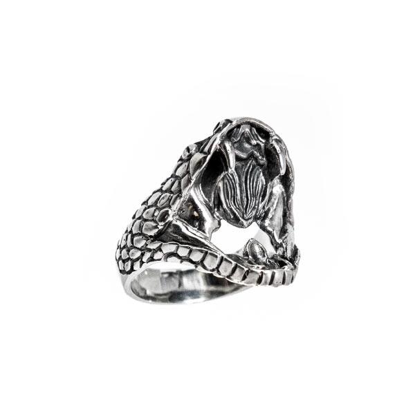 serpiente viper anillo de plata