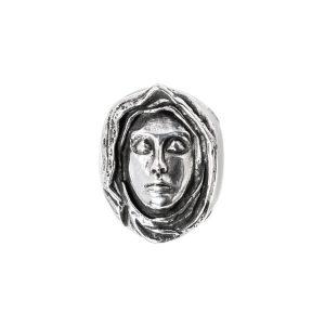 virgen anillo de plata