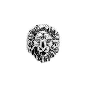 León pequeño anillo de plata
