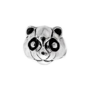 Oso panda anillo de plata