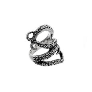 Pulpo anillo de plata