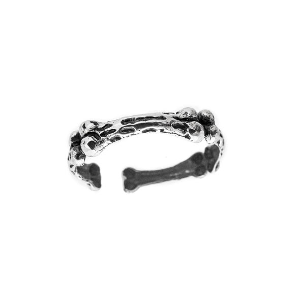 huesos brazalete en plata