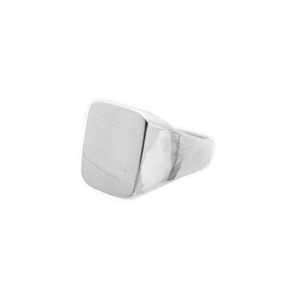 liso clásico anillo de plata