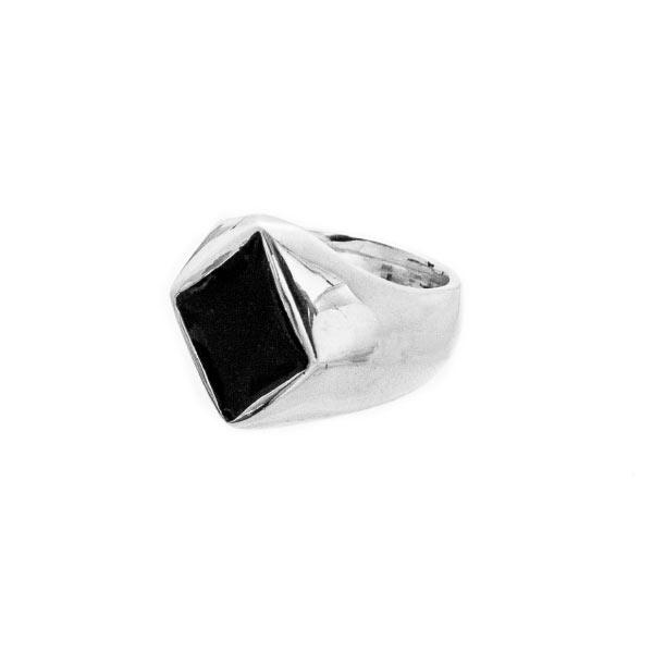 diamantes poker rings anillo de plata