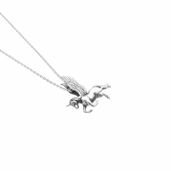 Unicornio collar de plata